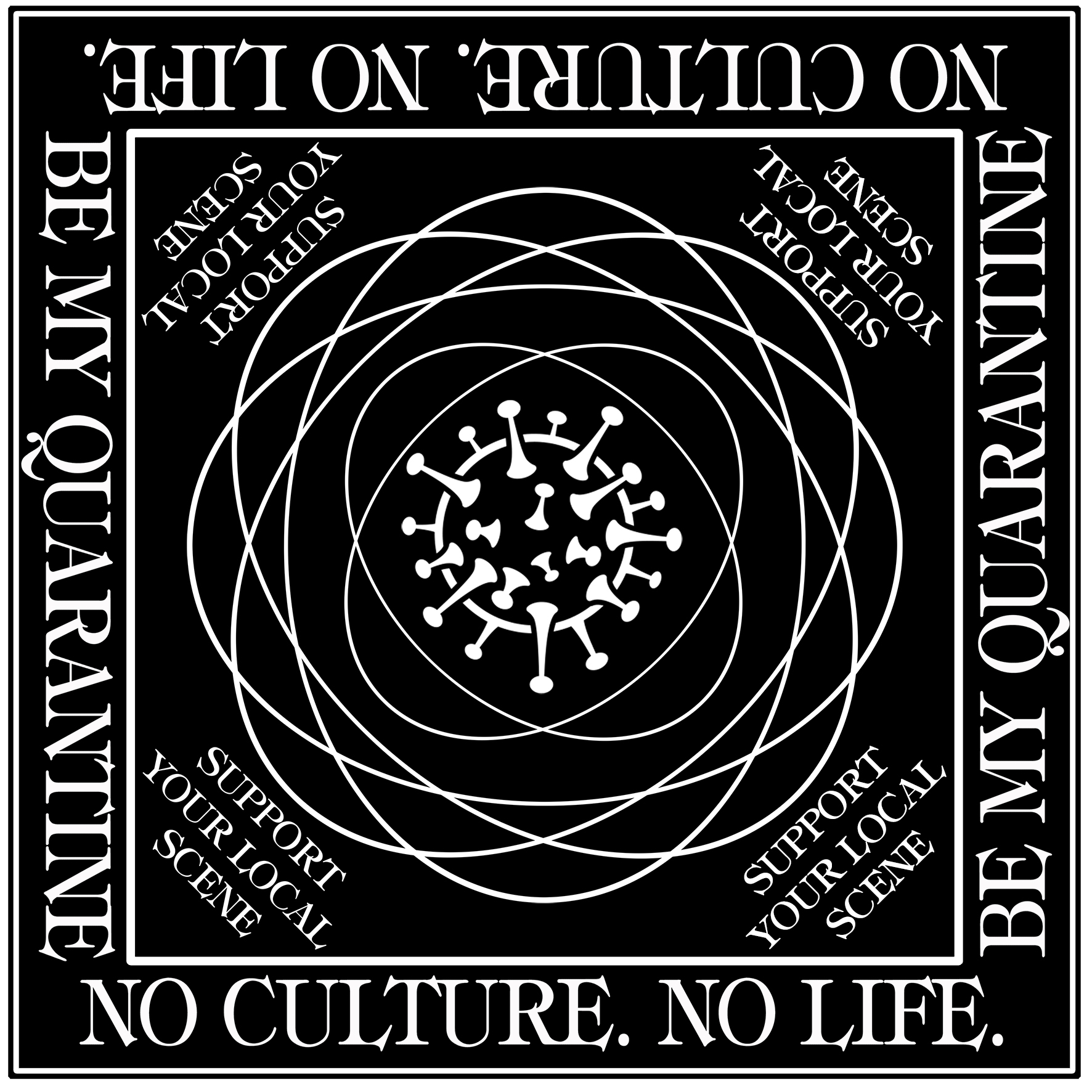 Be My Quarantine Friese - No Culture, No Life Bandana schwarz