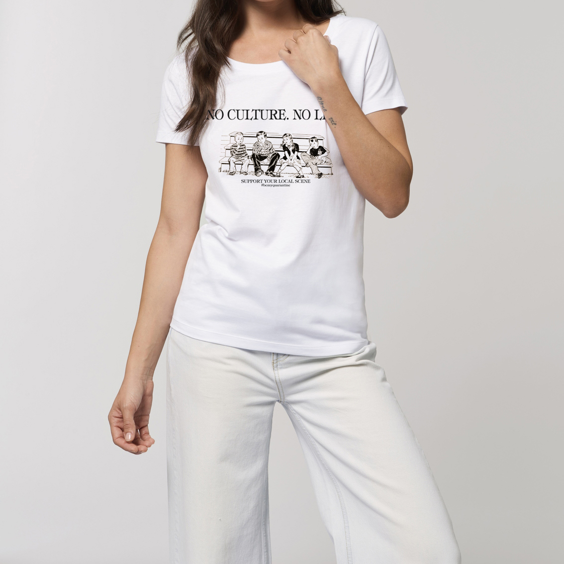Be My Quarantine Be My Quarantine - No Culture, No Life Essential Ladies T-Shirt white