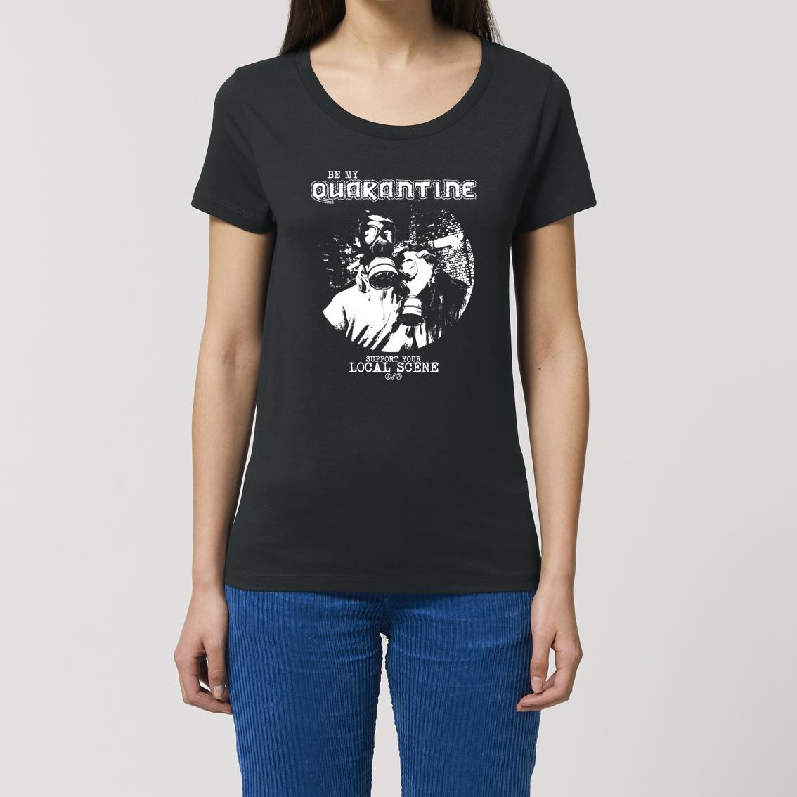 Be My Quarantine Be My Quarantine - Gas Mask Essential Damen T-Shirt schwarz