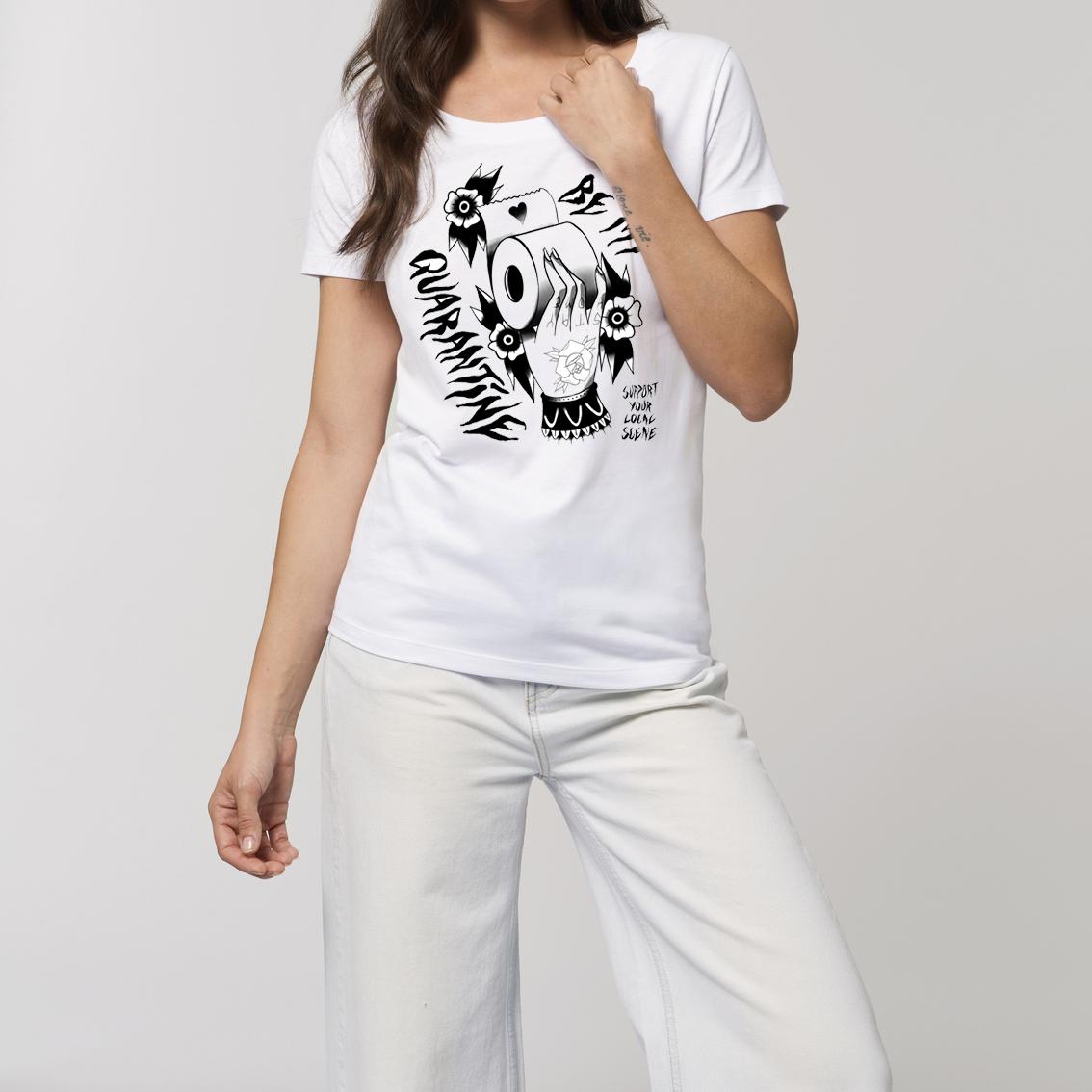 Be My Quarantine Be My Quarantine - Tattoo Hand Essential Ladies T-Shirt white