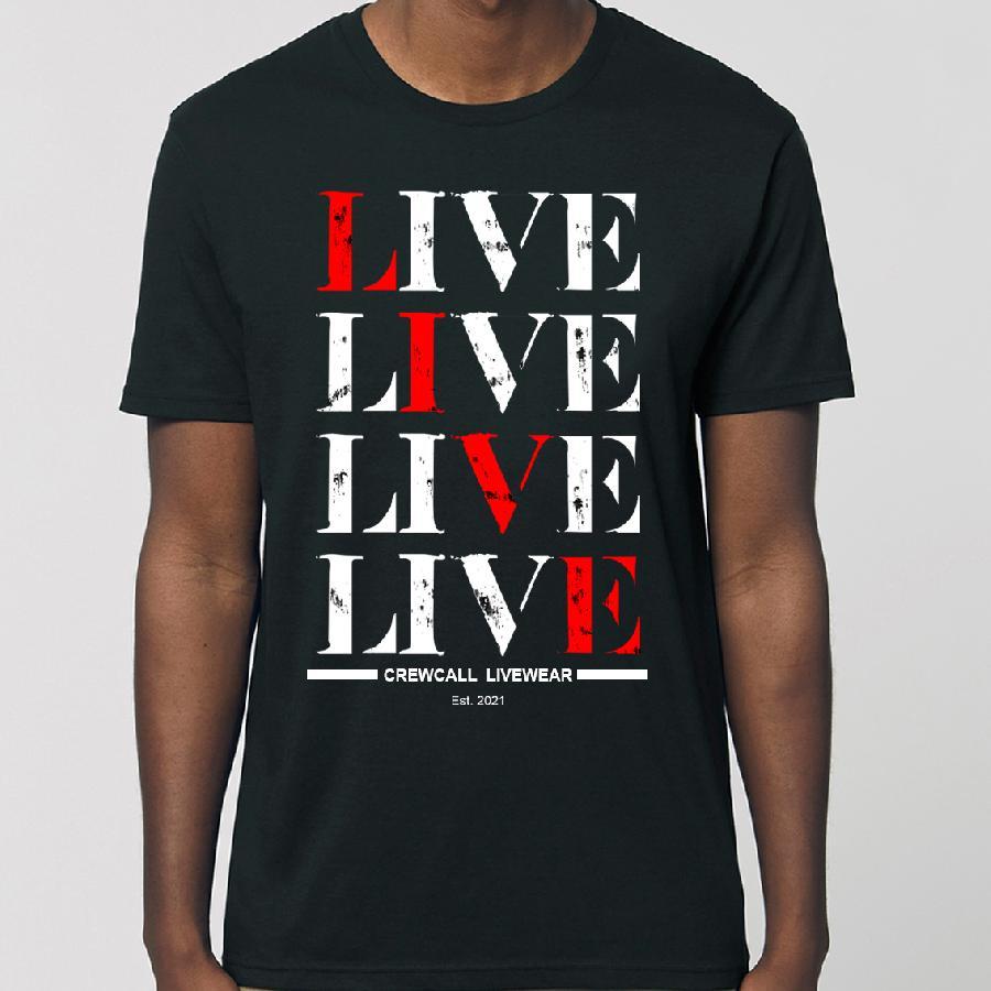 Untailliertes Shirt #Live Shirt