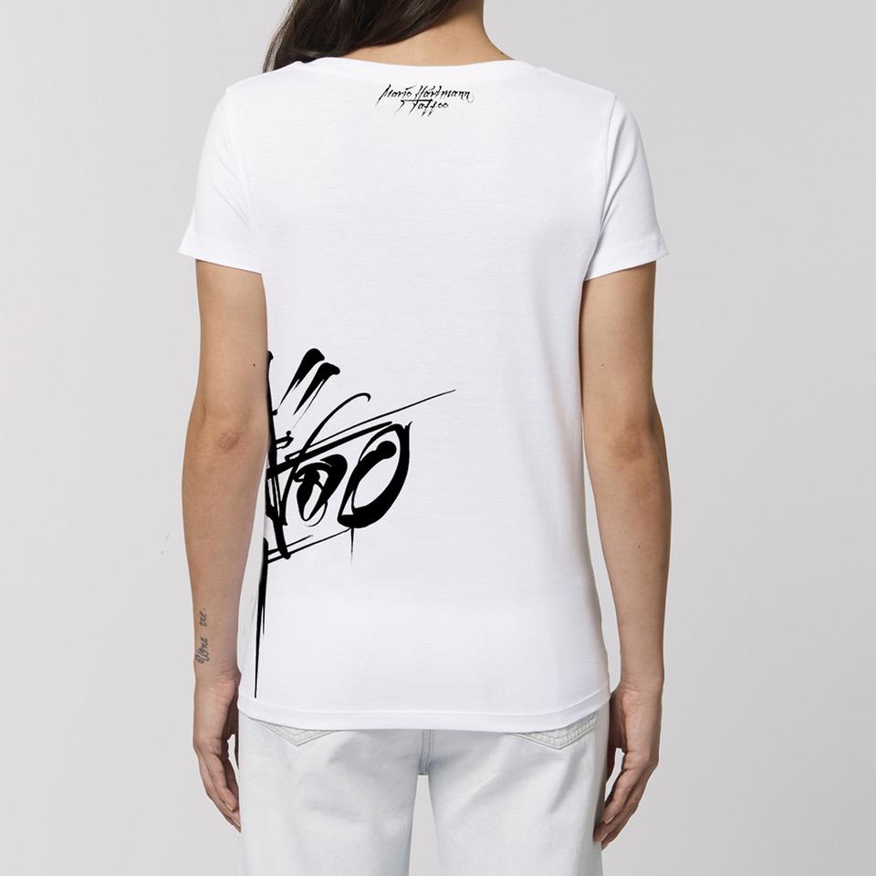 Mario Hartmann Mario Hartmann - Logo Tailliertes Shirt weiß