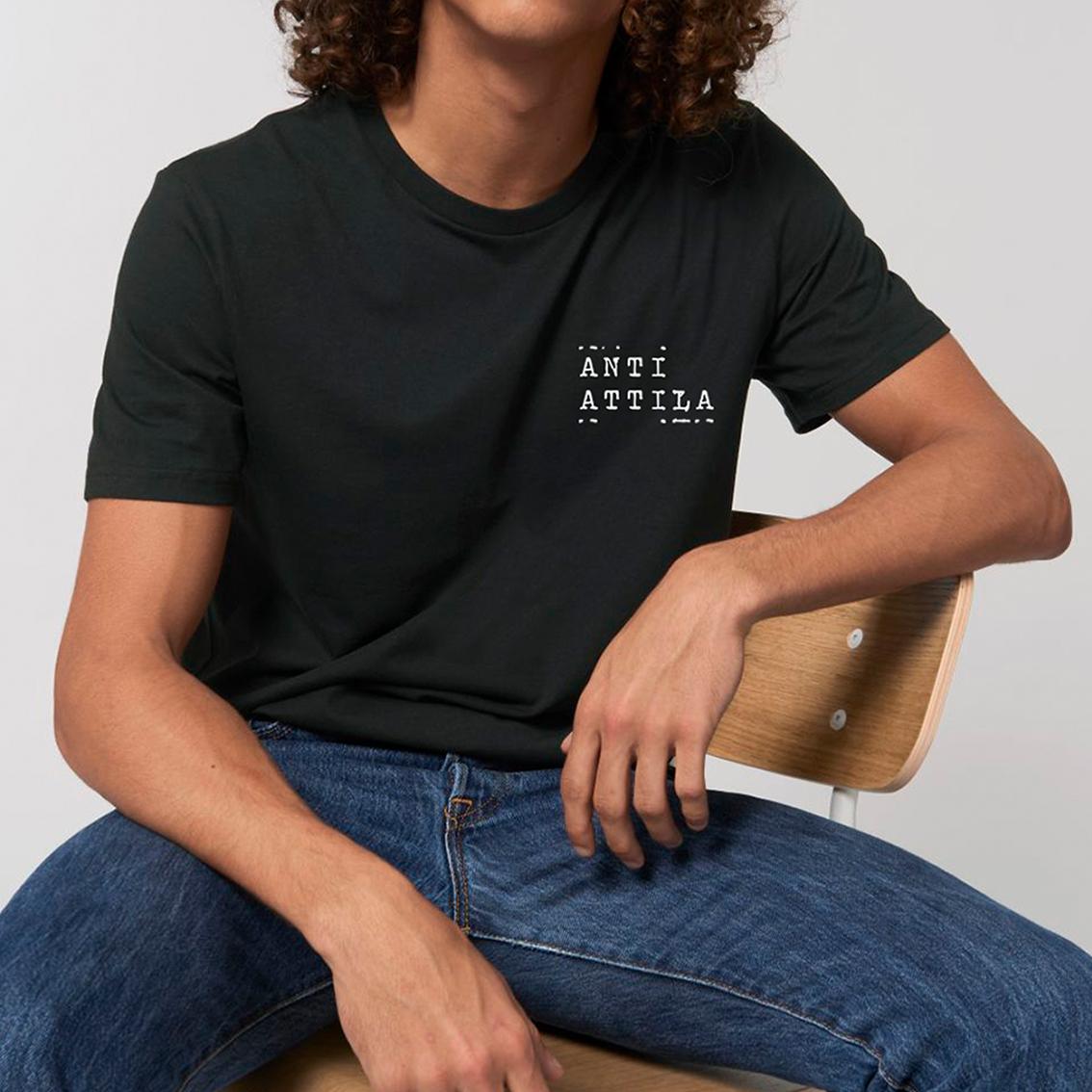 Tourhafen Anti Attila Untailliertes Shirt black