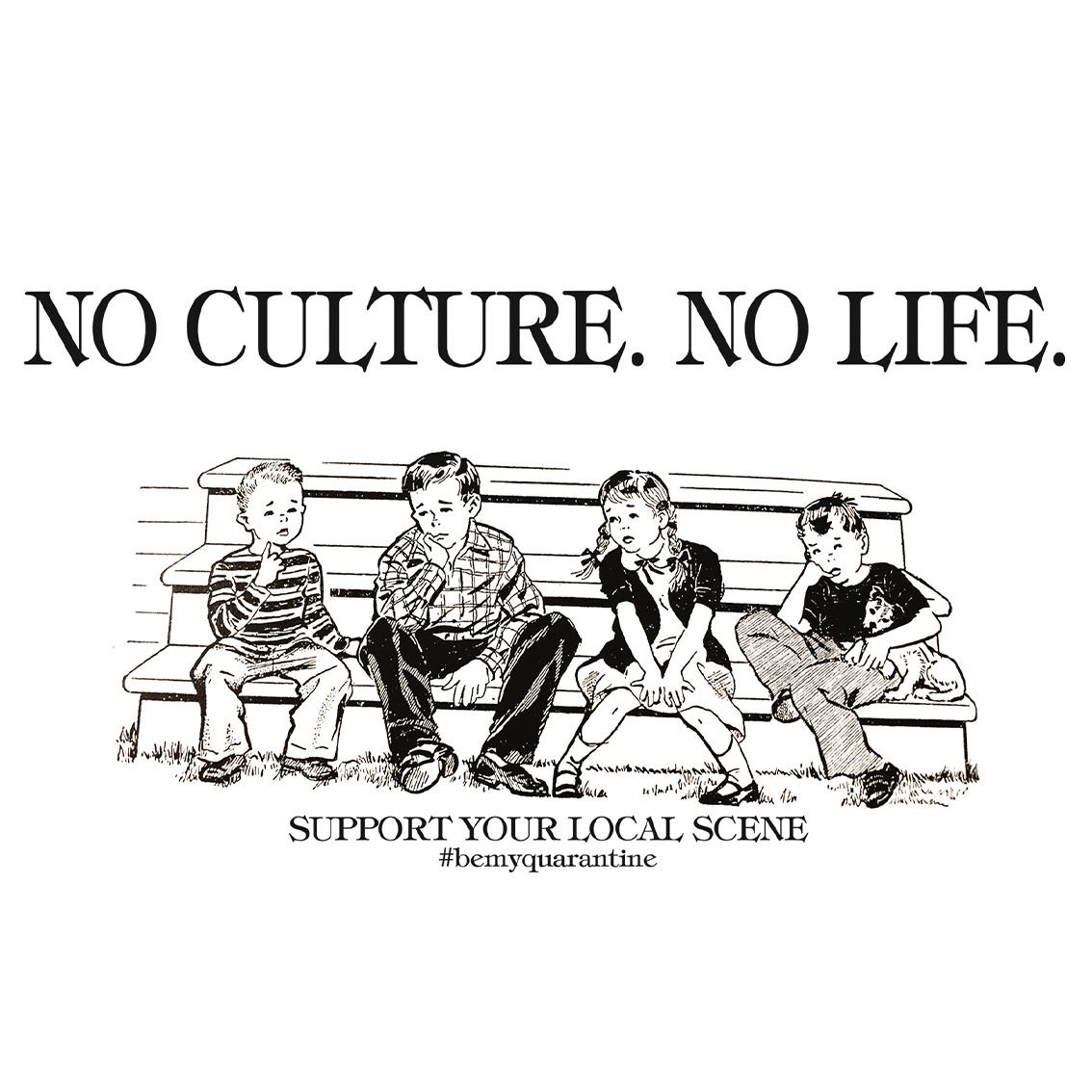 Tourhafen Be My Quarantine - No Culture, No Life Hoodie grau meliert
